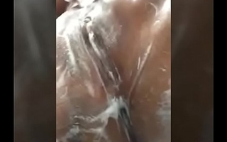 desi indian girl big boobs taking shower and fucking herself with finger