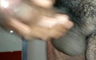 masturbation in bathroom.