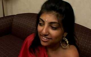 Indian Woman in Peppery Saree