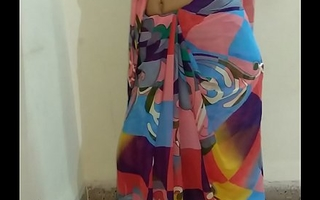 Indian desi wife removing sari added to fingering pussy till orgasm with moaning