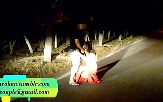 Pranya getting drilled on running road with Police Sirens behind