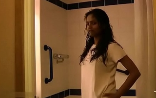Indian College Girl Divya Taking Shower Fingering Her Virgin Pussy