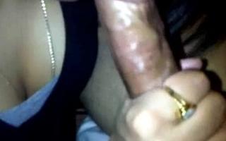 Indian wife Ranjana engulfing muslim friend's cock