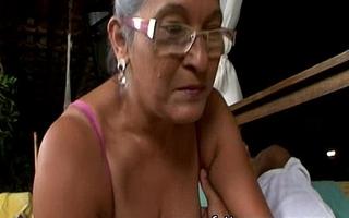 Matured granny eva seventy a handful of genre elderly near domineer sexual congress