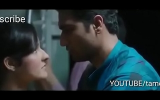 Indian boy and girl kissing in the morning Mumbai local train primary time