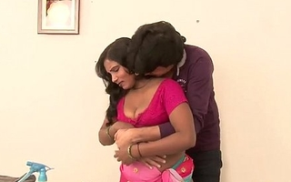 Sexy indian b-grade scene. Desi maid has her boobs driven nicely.